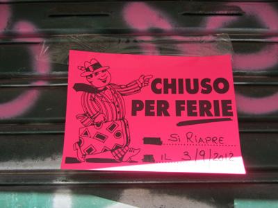 Nicht nur der 15. August ist Ferragosto, auch die Tage davor und danach gehören dazu.