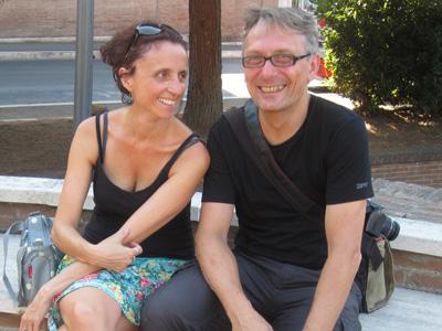 Rom-Besucher im August.