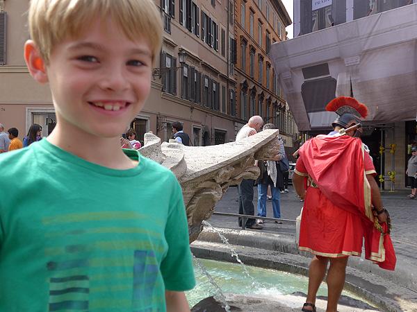 Rom mit Kindern