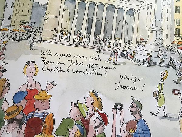 """Rom by Peter Gaymann. Cartoon aus seinem aktuellen Buch """"Typisch Italienisch""""."""